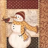 Country Snowman IV Framed Print