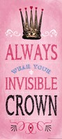 Invisible Crown - Pink Framed Print