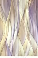 Sheer Lilac And Creme Fine Art Print