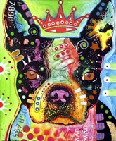 Boston Terrier Crowned Fine Art Print