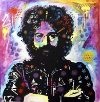 Jerry Garcia by Dean Russo - various sizes, FulcrumGallery.com brand