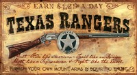 Texas Rangers by Red Horse Signs - various sizes - $14.99