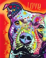 Thoughtful Pit Bull 2 Fine Art Print