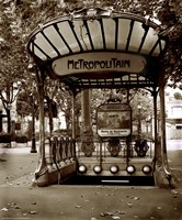 Metropolitain (Paris) II Fine Art Print