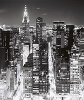 Night Skyline NYC Fine Art Print
