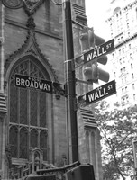 Wall Street Signs Framed Print