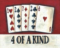 """Four of a Kind by Donna Atkins - 10"""" x 8"""""""