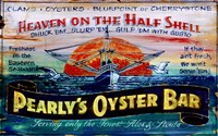 Pearlys Oysters by Red Horse Signs - various sizes - $26.99