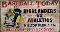 Baseball Today by Red Horse Signs - various sizes