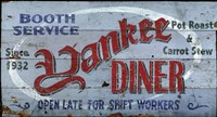 Yankee Diner by Red Horse Signs - various sizes
