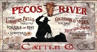 Pecos by Red Horse Signs - various sizes - $26.99