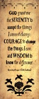 The Serenity Prayer Fine Art Print