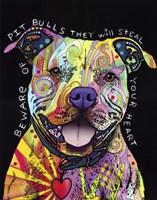 Beware of Pit Bulls Fine Art Print