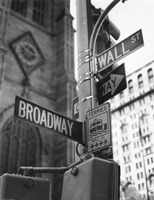 Broadway and Wall Street Fine Art Print