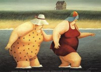 "Judy and Marge by Lowell Herrero - 7"" x 5"", FulcrumGallery.com brand"