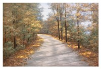 Walking in Fall Fine Art Print