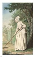 The Duchess of Chaulnes as a Gardener in an Allee Fine Art Print