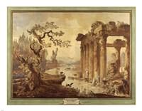 Landscape with Ruins Fine Art Print