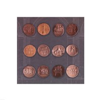"""Roman Coins I by The Vintage Collection - 12"""" x 12"""""""
