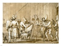 Punchinello Is Helped to a Chair by Giovanni Domenico Tiepolo - various sizes