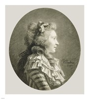 Portrait of a Young Lady in Profile Fine Art Print