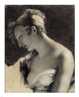 Head of a Woman: Study for The Happy Mother by Pierre-Paul Prudhon - various sizes
