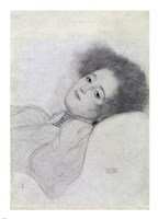 Portrait of a Young Woman Reclining by Gustav Klimt - various sizes