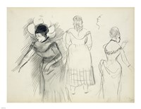 Sketches of Cafe Singers by Edgar Degas - various sizes
