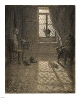 Le chat The Cat at the Window Fine Art Print