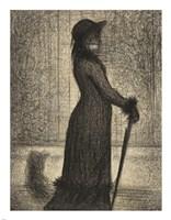 Woman Strolling Fine Art Print