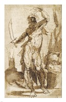 Study for the Figure of Abraham Fine Art Print