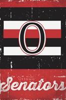 Ottawa Senators - Retro Logo 13 Wall Poster