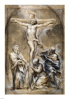 Christ on the Cross with the Virgin Mary Fine Art Print