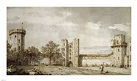 Warwick Castle: The East Front from the Courtyard by Giovanni Antonio Canaletto - various sizes