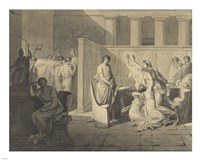 The Lictors Carrying Away the Bodies of the Sons of Brutus by Jacques-Louis David - various sizes
