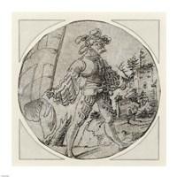 A Standard Bearer before a Castle Fine Art Print