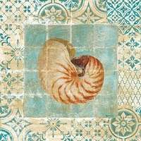 Shell Tiles III Blue by Danhui Nai - various sizes