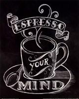 Espresso Your Mind No Border Framed Print