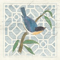 Monument Etching Tile I Blue Bird by Wild Apple Portfolio - various sizes
