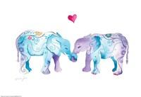 Elephants in Love Fine Art Print