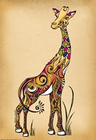 Giraffe by Green Girl Canvas - various sizes