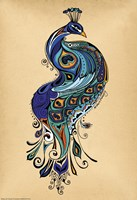 Peacock by Green Girl Canvas - various sizes
