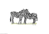 Zebras by Green Girl Canvas - various sizes