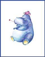 Jane Hippo by Green Girl Canvas - various sizes