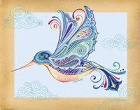 Funky Hummingbird by Green Girl Canvas - various sizes