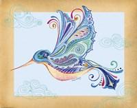 Funky Hummingbird Fine Art Print