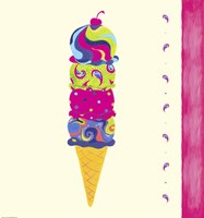 Ice Cream Cone by Green Girl Canvas - various sizes