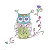 Owl Branch Fine Art Print