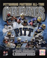 University of Pittsburgh Panthers All Time Greats Fine Art Print