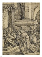 Esther before Ahasuerus - drawing Fine Art Print